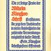 Gebr. Klingspor: »Die 32seitige Probe der Wilhelm Klingspor-Schrift…« Ad, 1927 by Kirsten Solveig Schneider