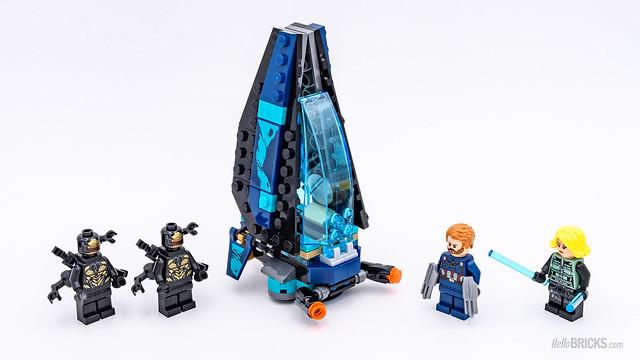 REVIEW LEGO Marvel 76101 Outrider Dropship Attack 5