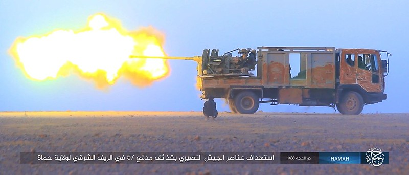 57mm-S-60-truck-ISIS-homs-syria-c2017-spz-1