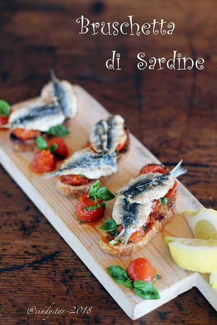 bruschetta di sardine