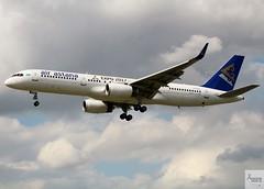 Air Astana B757-2G5 P4-EAS landing at LHR/EGLL