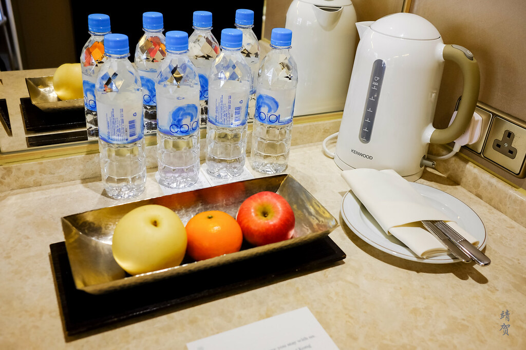 Water and fruit plate