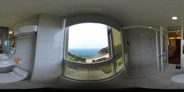 蔚藍珠海民宿-海景雙人房(三小床)浴室