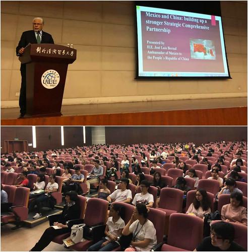 Conferencia magistral del Emb. José Luis Bernal en la Universidad de Negocios Internacionales y Economía (UIBE)