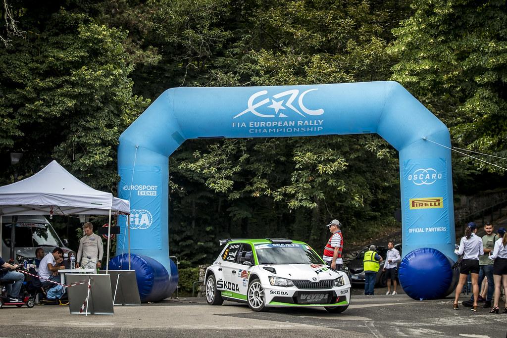 15 Juuso Nordgren (FIN), Tapio Suominen (FIN), SKODA FABIA R5, during the 2018 European Rally Championship ERC Rally di Roma Capitale,  from july 20 to 22 , at Fiuggi, Italia - Photo Gregory Lenormand / DPPI