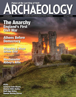 July-August-2018  archeology magazine cover
