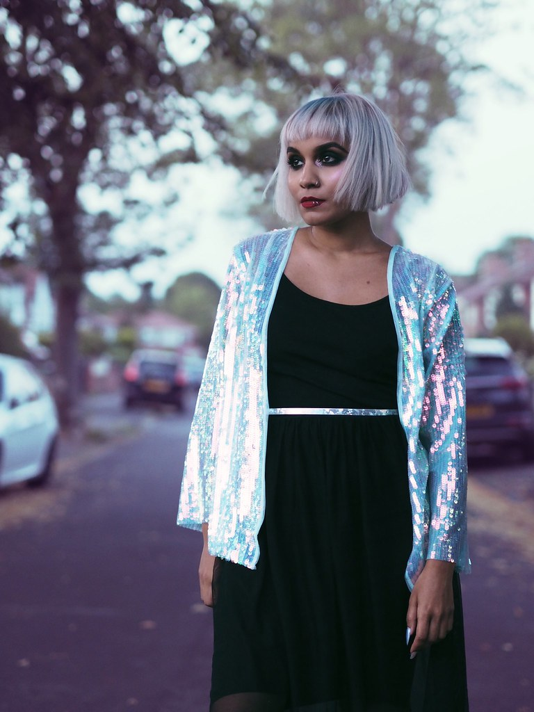 Primark Sequin Glitter Iridescent Jacket Fashionicide Fashion Shoot