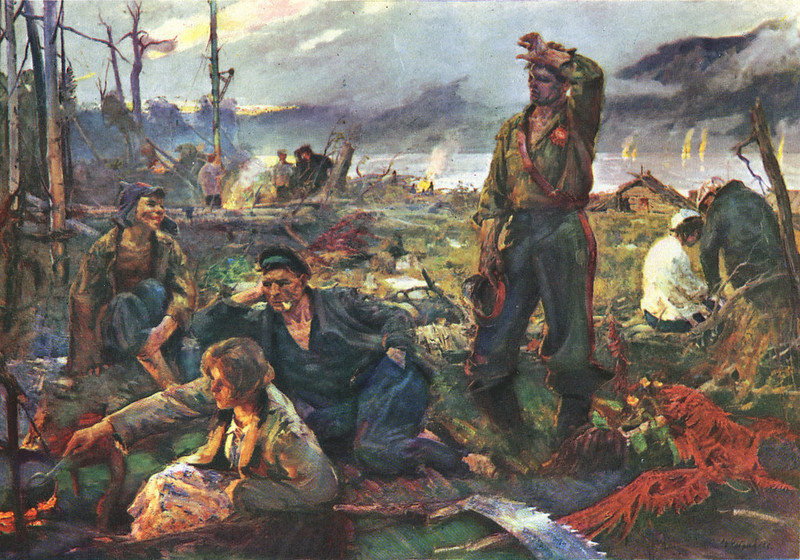 Кабанов И. Строители Комсомольска-на-Амуре