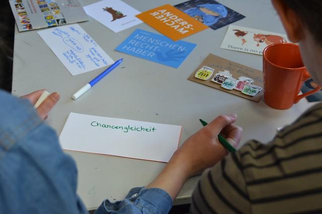 Kunstworkshop: Wie sieht (m)eine gerechte Welt aus?