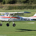 G-AWUN - 1968 Reims built Cessna 150H, arriving on Runway 26L at Barton, part of the LAA 70th Anniversary Tour