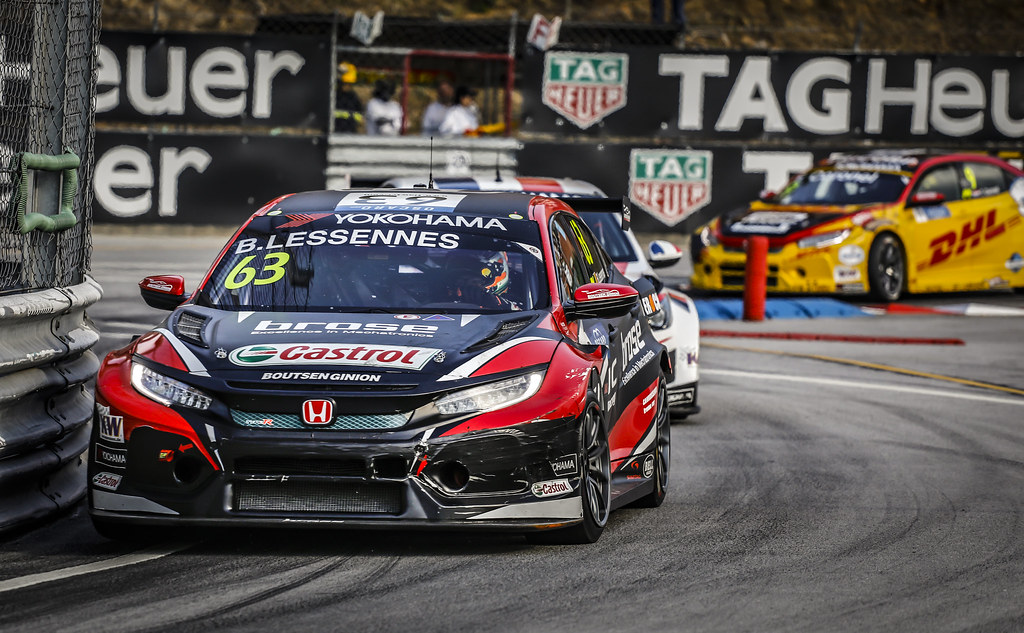 63 LESSENNES Benjamin, (bel), Honda Civic TCR team Boutsen Ginion Racing, action during the 2018 FIA WTCR World Touring Car cup of Portugal, Vila Real from june 22 to 24 - Photo Francois Flamand / DPPI