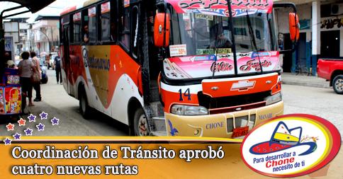 Coordinación de Tránsito aprobó cuatro nuevas rutas