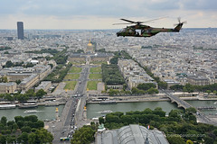 French Army ALAT NH90 Caïman helicopter over Paris