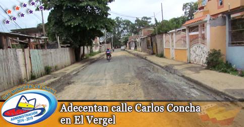 Adecentan calle Carlos Concha en El Vergel