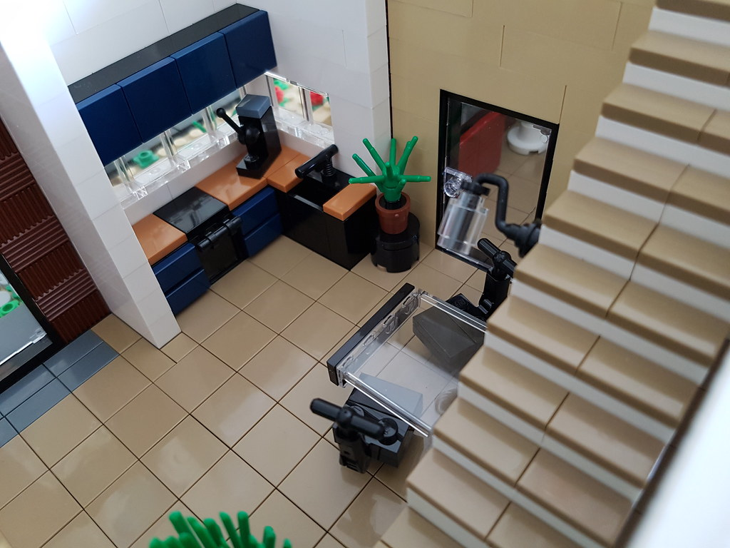Coral House MOC kitchen from above