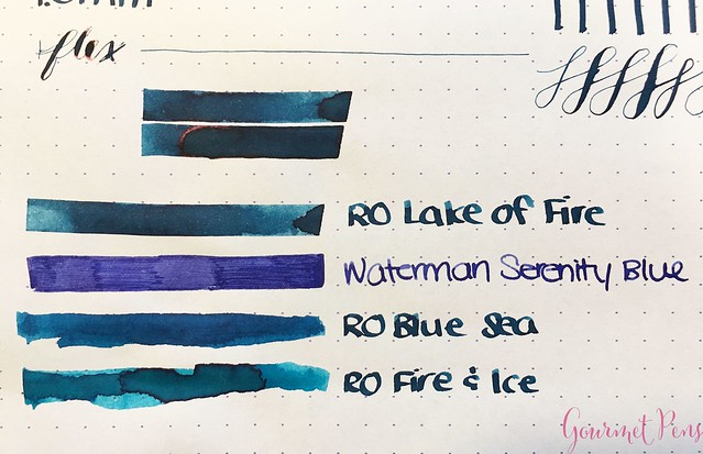 Robert Oster Lake of Fire Ink Review @RobertOsterSignature 5