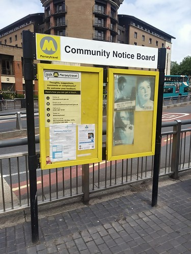 Community Notice Board, Merseytravel, Queens Square Bus Station, Liverpool