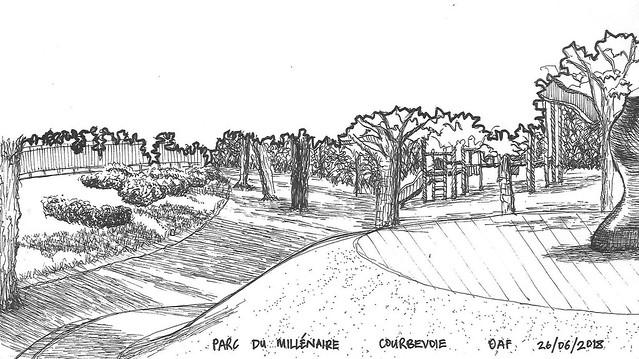 Parc du Millénaire, Courbevoie