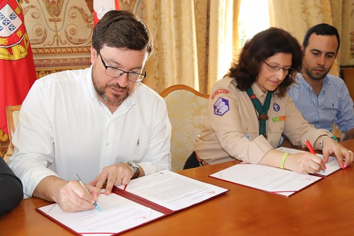 Assinatura de protocolos de cedência de espaços na Ex-EPC 036