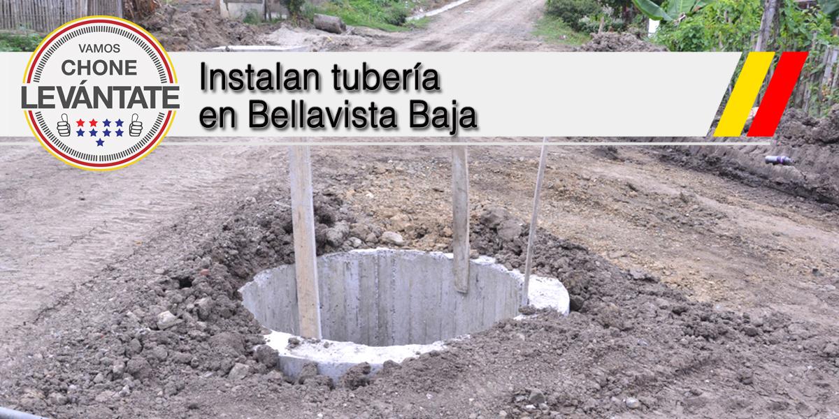 Instalan tubería en Bellavista Baja