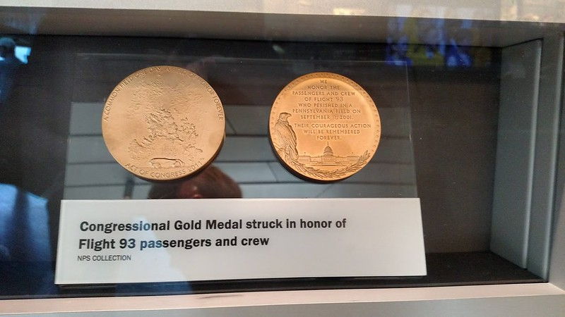 Flight 93 Congressional Gold Medal display