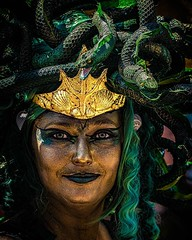 Coney Island Mermaid Parade . Second of a series of portraits from the Parade last Saturday. After this you will know why I don't do portraits! :-) . . #coneyislandmermaidparade #coneyisland #mermaidparade2018 #mermaidparade #mermaids #boardwalkbeauties #