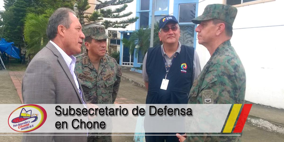Subsecretario de Defensa en Chone