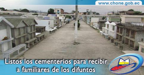 Listos los cementerios para recibir a familiares de los difuntos