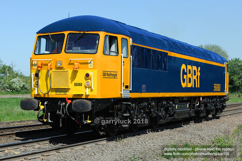 GB Railfreight: Class 56 Diesel Locomotive 56060 (digital representation)