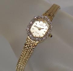 Ladies Watch. Diamond Watch. Jules Jurgenson Watch. Vintage Watch. Women's Diamond Gold Watch. Art Deco Watch. Jewelry for Women. waalaa
