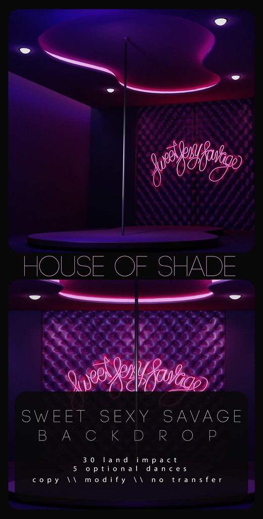 House Of Shade – Sweet Sexy Savage Backdrop