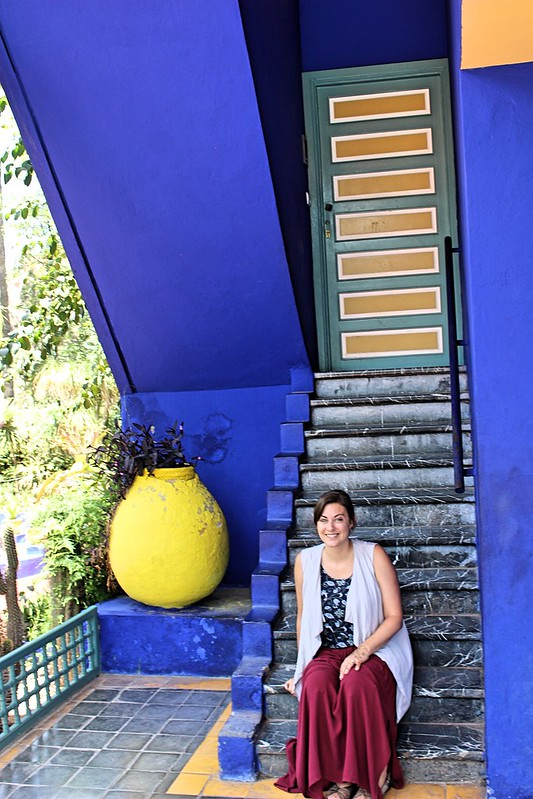 Me on Majorelle steps