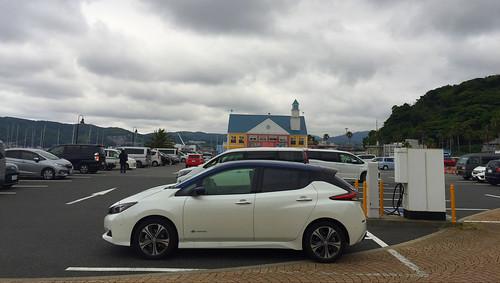 日産リーフ(40kWh)@道の駅 伊東マリンタウン