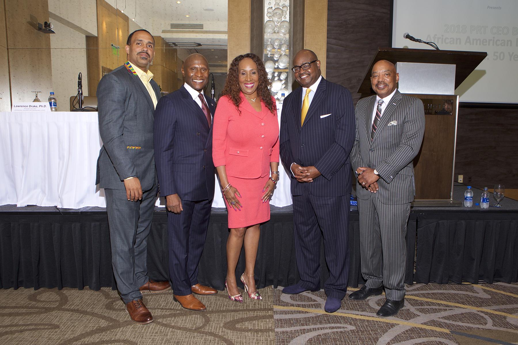 Dedrick Asante-Muhammad, Robert L. Wallace, Dr. Sheila Brooks, Dr. Lawrence Drake, Jeffrey Hargrave
