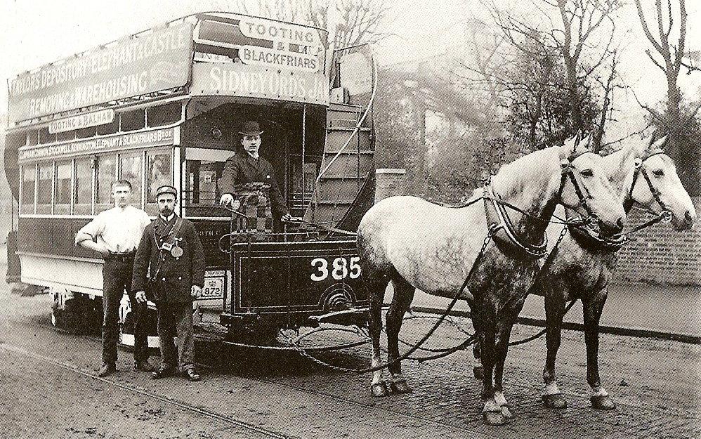 London Tramways horse-tram (streetcar)