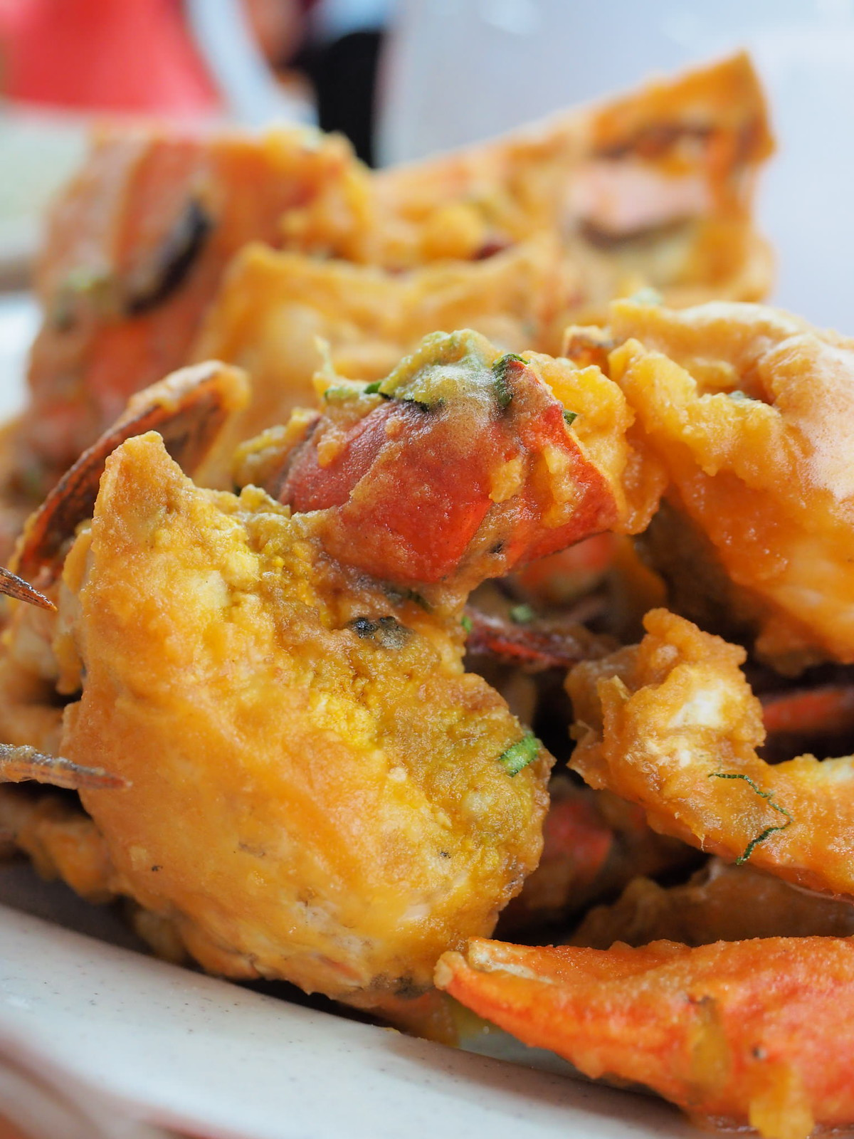 Salted egg crabs at Pangkor Village Seafood, Taman Megah