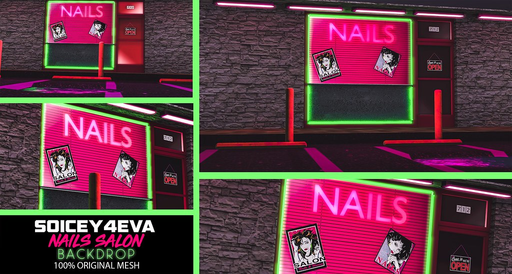 💎SOICEY4EVA💎 💅Nails Salon BACKDROP💁‍♀️ Now Available! - TeleportHub.com Live!
