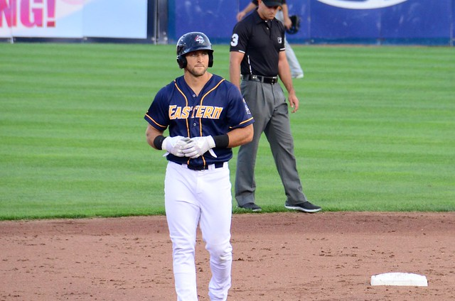 Tim Tebow on Second Base during the Eastern League All Star Game