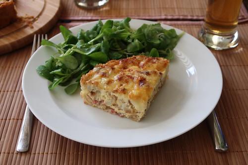 Blumenkohltarte mit Feldsalat (mein 1. Viertel)