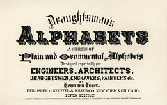 Different types of fonts from Draughtsman's Alphabets by Hermann Esser (1845–1908). Digitally enhanced from our own 5th edition of the publication.