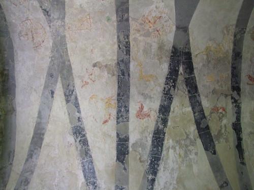Clare Island, County Mayo, Cistercian Monastery, wall paintings 2