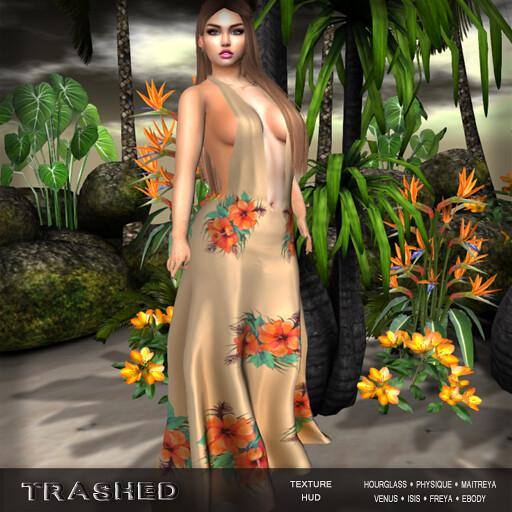 <Trashed> Hibiscus dress with hud - TeleportHub.com Live!