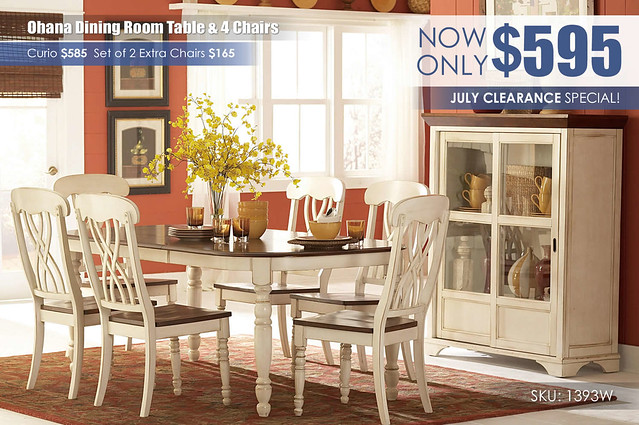 Ohana White Dining Room Set_1393W_Special