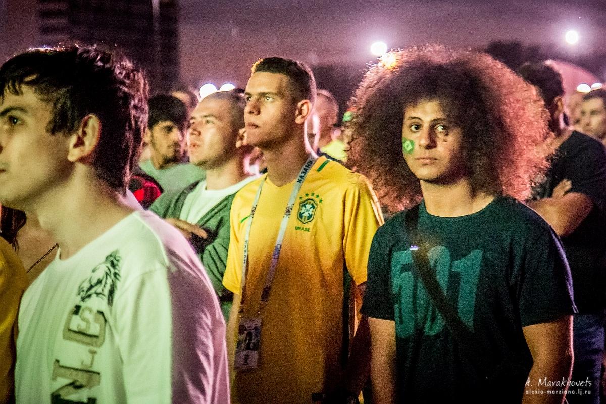 Чемпионат мира, футбол, Казань, фанзона, Бразилия, Бельгия