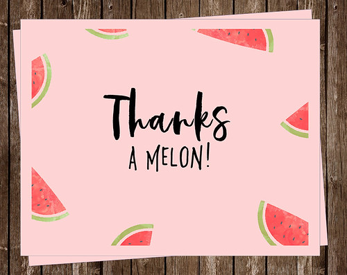 Thanks a Melon Note Cards