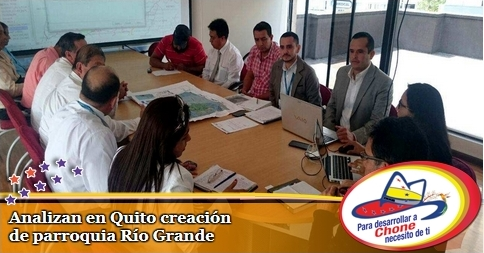 Analizan en Quito creación de parroquia Río Grande