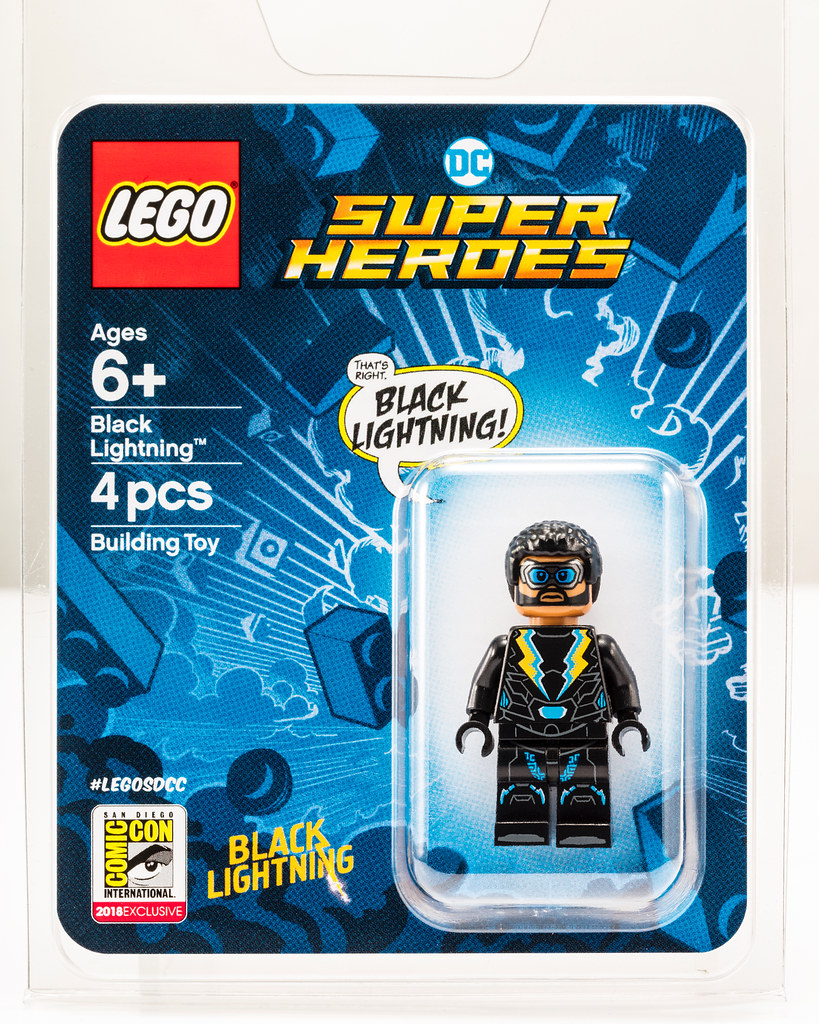 LEGO Announces SDCC 2018 Exclusive DC Superheroes Black Lightning Minifigure!