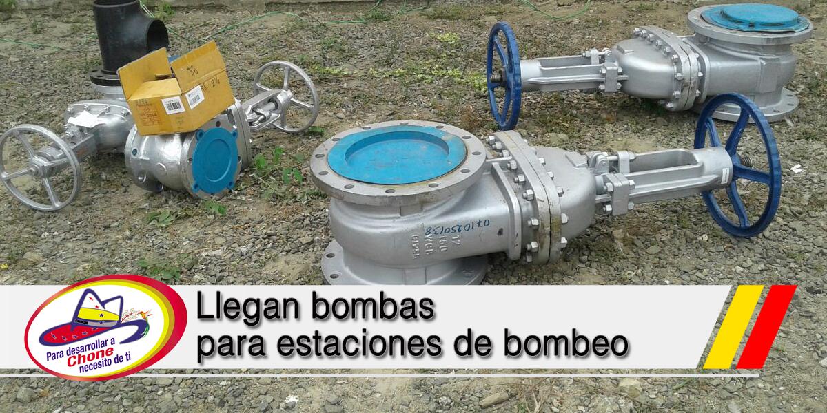 Llegan bombas para estaciones de bombeo