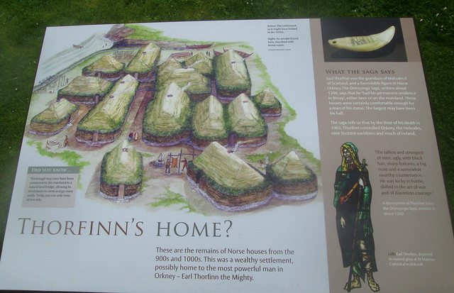Brough of Birsay, Norse Houses, Information Board
