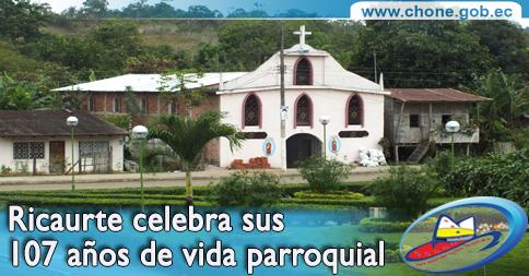 Ricaurte celebra sus 107 años de vida parroquial